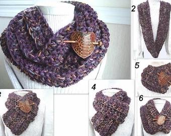 INSTANT DOWNLOAD Crochet Pattern PDF 199 - Chunky Circle Cowl - by Ashton11