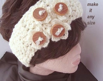 INSTANT DOWNLOAD Crochet Pattern PDF 210- Super Easy Crochet Headband-make it any size-.permission to sell your finished headbands