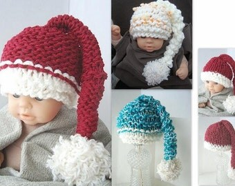 INSTANT DOWNLOAD knitting pattern 222 - Little Munchkin Hat-beginner level.  Sizes preemie to Adult.- crochet version available