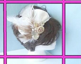 INSTANT DOWNLOAD  Pattern PDF  124, Bridal Fascinator Headband - tutorial to make it yourself.