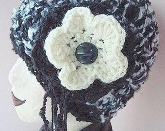 INSTANT DOWNLOAD Crochet Pattern PDF 12 -Park Avenue Flapper hat, adult size