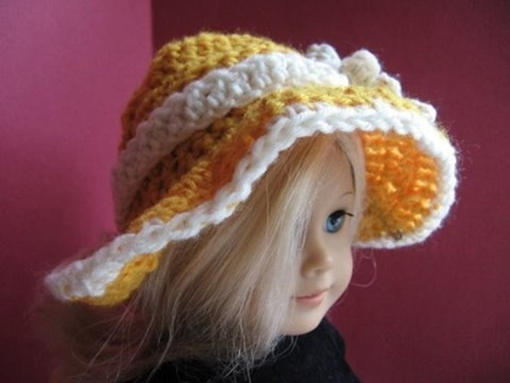 INSTANT DOWNLOAD Crochet Pattern PDF1-American Girl Sunhat