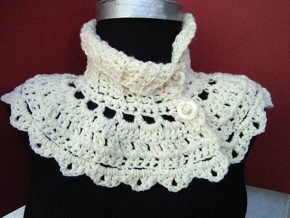Crochet Patterns To Download : INSTANT DOWNLOAD Crochet Pattern PDF 91 Cream Capelet by ...