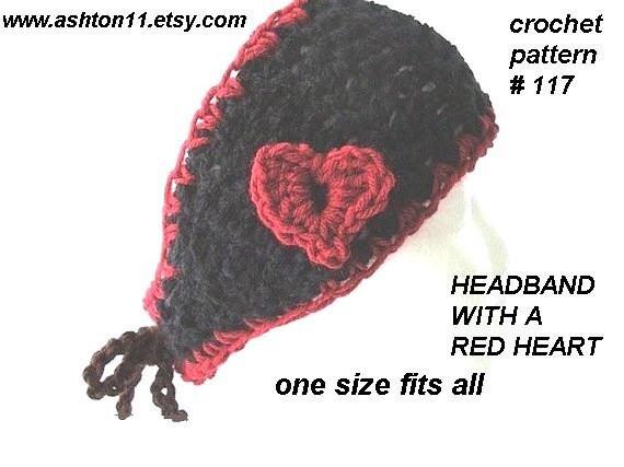Red Heart Free Pattern Lw2254 Crochet Flower Headband : INSTANT DOWNLOAD Crochet Pattern PDF 117 Red Heart Headband