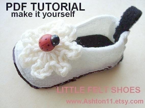 Patterns felt baby shoes pdf tutorial 125 unisex felt or polar fleece