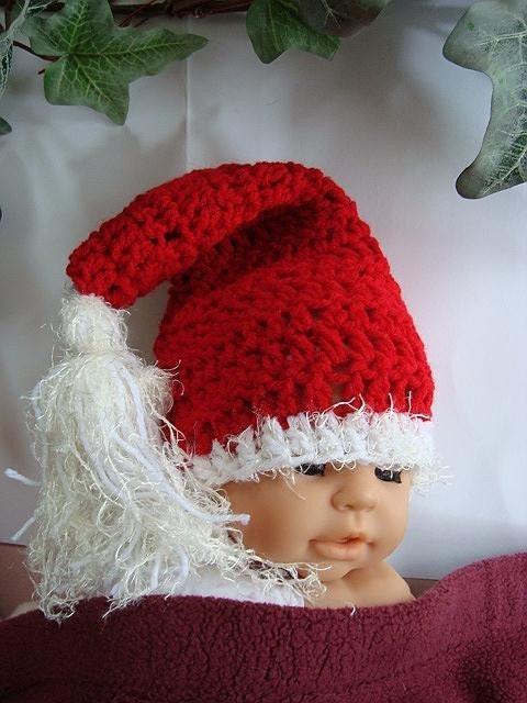 Crochet Pattern Santa Hat Baby : CROCHET PATTERN number 93 SANTA BABY HAT... NOT JUST FOR