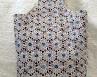 Brown and Blue Kaleidoscope Shoulder Bag