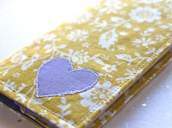 2012 Planner - Vintage Goldenrod with Lavender Heart Weekly Planner