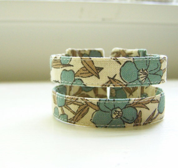 Double strand cuff bracelet in boho blooms READY TO SHIP