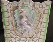 Decorative Mosaic Waste Paper Basket