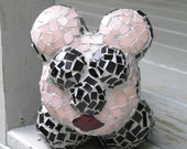 Garden Ornament - Broken Pieces Mosaic Garden Mouse - NellsBelles