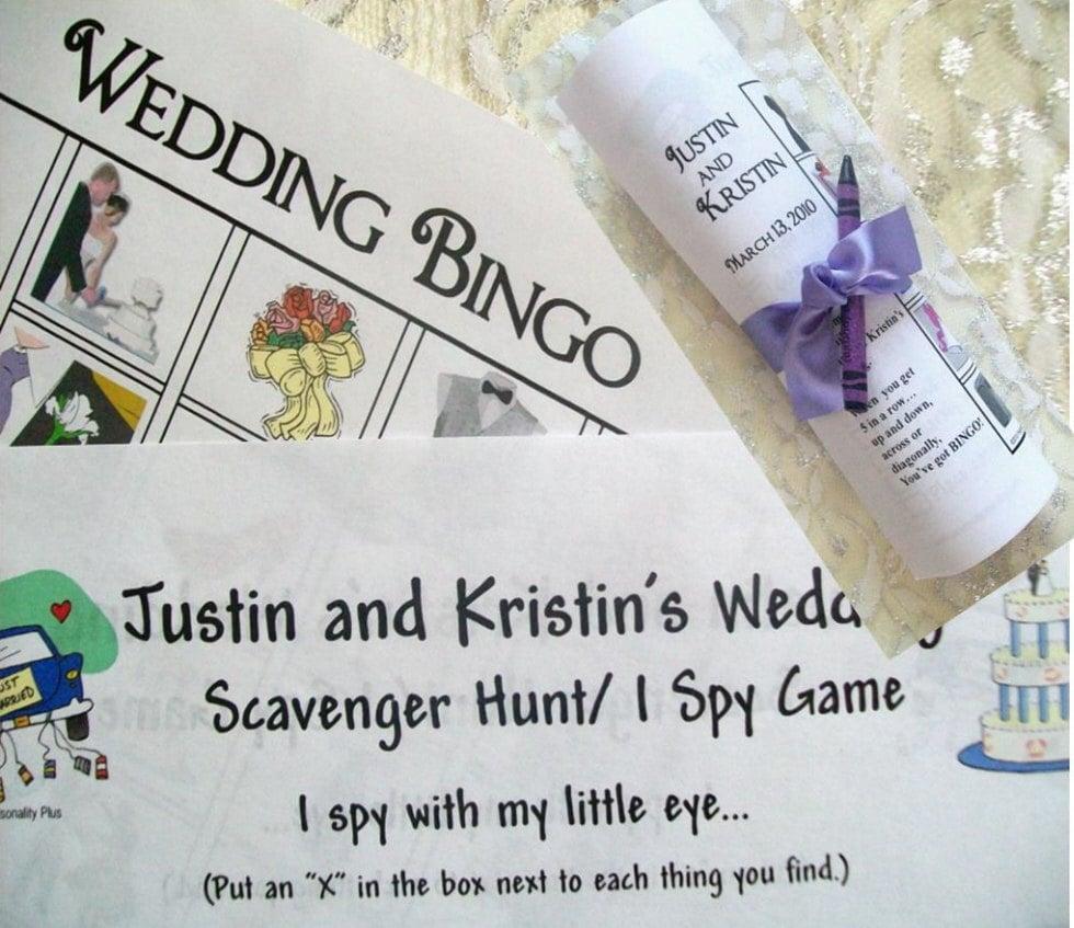 DIY Printable Personalized Kids Wedding Games. US Or UK