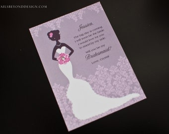 Lacy Bride - Will You Be My Bridesmaid Card