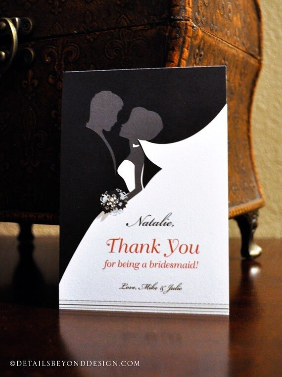 Custom Listing for Angie - Thank you for being my bridesmaid Card