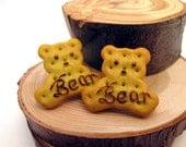 Bear Biscuit Earrings, Post, Animal Crackers