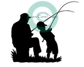 Father and Son Fishing Vinyl Decal