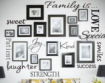 Large Family is.... Wall Decal