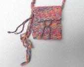 Tropics Treasure Pouch/Amulet/ Handwoven Necklace