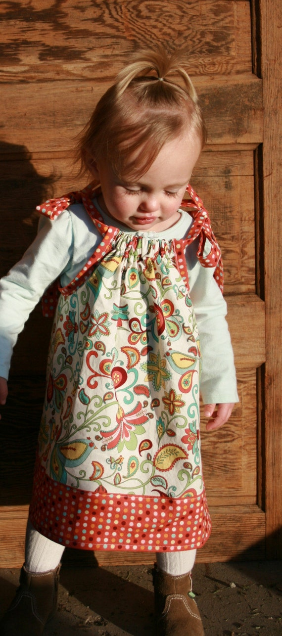 Pillowcase Dress Do-It-Yourself Kit with FREE matching HAIRBOW. Sizes 0-6 months - 3T