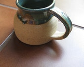 Earthy Teal and Bare Clay Rounded Mug