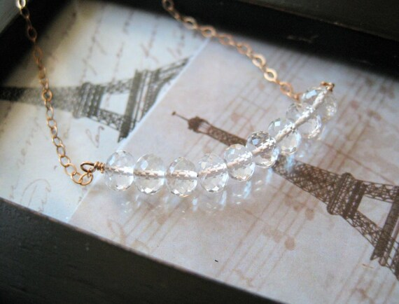 RESERVED White Topaz Carrie Necklace