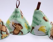 Pee Pee Cones for Baby Boys - Monkey Around - Set of 4
