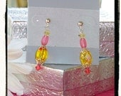 Pink Lemonade III earrings