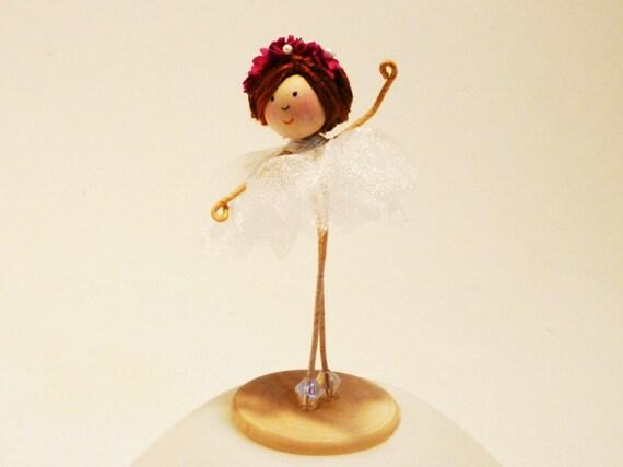Pink Sugar Plum Fairy Ballerina Doll Pink from The Nutcracker, Flower Doll