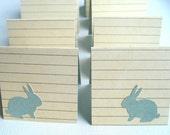 Sea Foam Bunny Rabbit Mini Cards On Card Stock