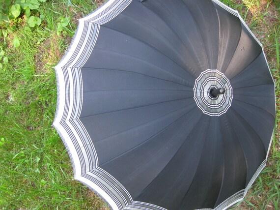 Classic Storm Hero Black and Grey Umbrella Circa 1940's