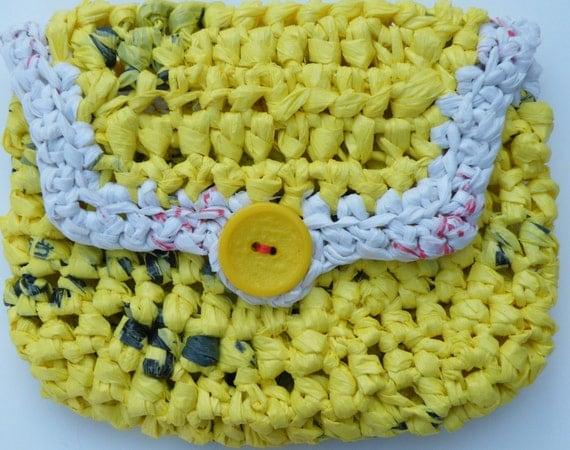 PDF Crochet Pattern - Pouch with square edge front flap