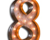 """Circus Light Number 8 - RUSTY - 24"""" Vintage Marquee Lights-The Original!"""