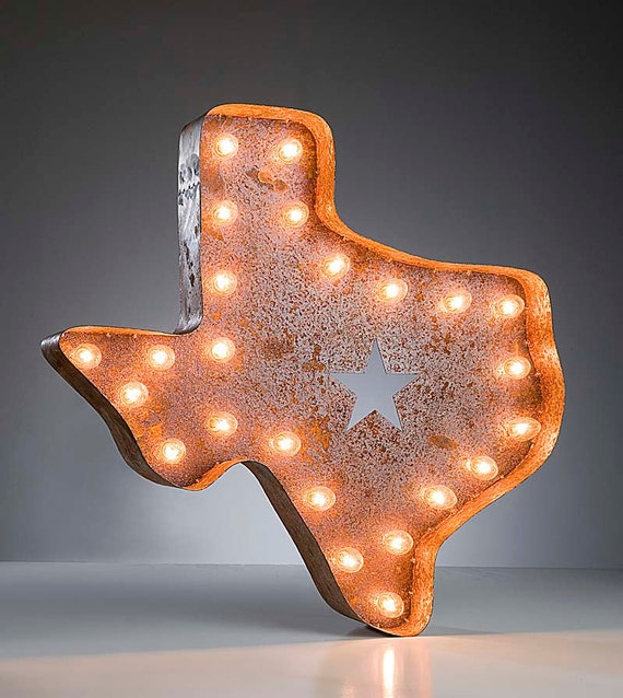 SALE Vintage Marquee Lights - Texas