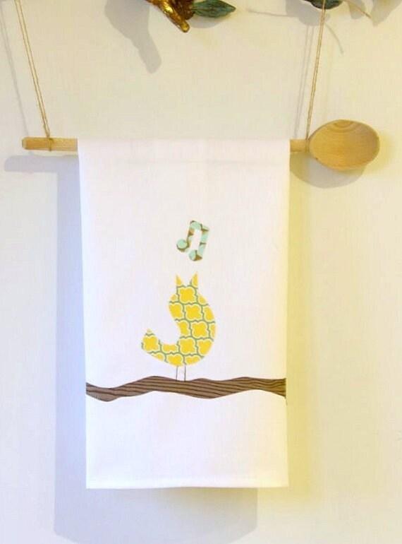 singing bird tea towel