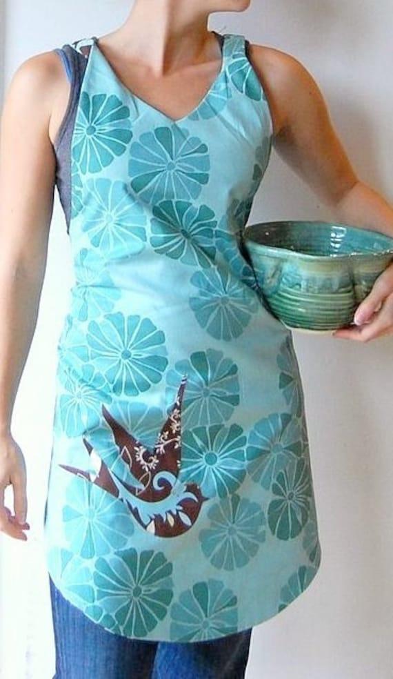 brown bird reversible apron