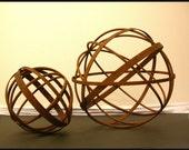 """Garden Art Metal Sphere Sculpture 24"""" Home and Garden Decor Yard Art"""