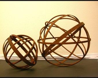 "Garden Art Metal Sphere 18"" Diameter- Home and Garden Sculpture Decor"