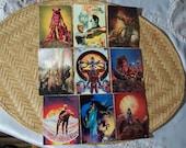 9 Fantasy Cards by Richard Corben 1993