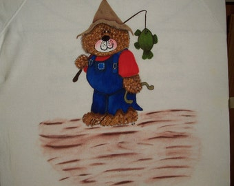 Country Bear Sweatshirt Handpainted