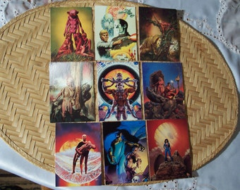 9 Fantasy Cards by Richard Corben 1993