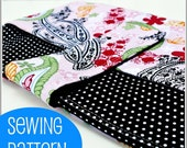 PDF Sewing Pattern -- Padded Laptop Sleeve with Pocket -- Instant Download
