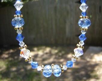 Sapphire Swarovski Crystal Necklace