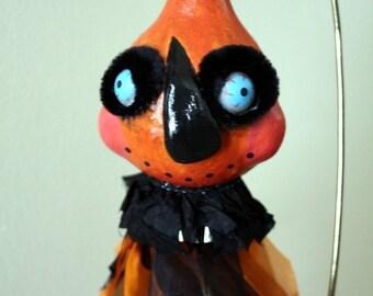 Halloween Pumpkin Gourd Folk Art Ornament Decoration
