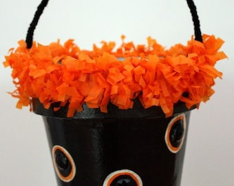 Halloween Handmade Trick or Treat Bucket by lindasilverthorne