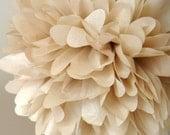 Khaki .. Tissue Paper Pom / Dessert Table Decor / Bridal Shower / Birthday / Baptism / Candy Bar / Party Decoration