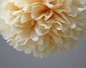 Butterscotch Tissue Paper Pom Poms- Wedding, Birthday, Nursery Decor, Party Decorations
