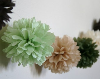 Earthy - Party Pom Garland Kit... featured in Brides magazine