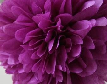 Plum .. Tissue Party Pom / Wedding Decor / Bridal Shower / Ceremony / Baby Shower / DIY Decoration