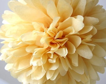 Wheat Tissue Pom Pom .. Wedding Decoration / Bridal Shower / Birthday / Party Decoration / DIY