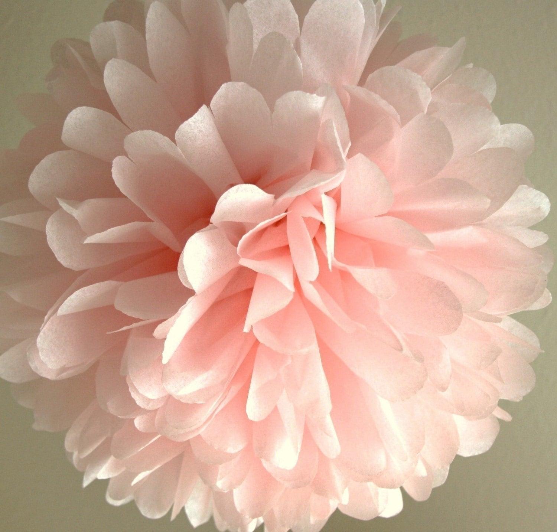 light pink tissue pom pom wedding decoration bridal. Black Bedroom Furniture Sets. Home Design Ideas